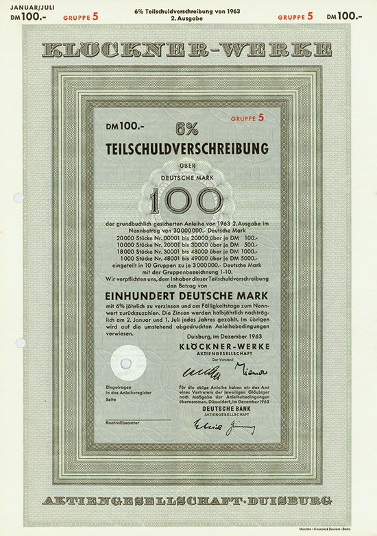 Klöckner-Werke AG [4 Stück]