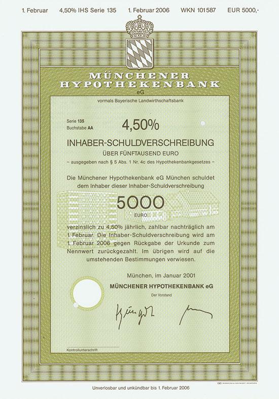 Münchener Hypothekenbank eG vormals Bayerische Landwirtschaftsbank [2 Stück]