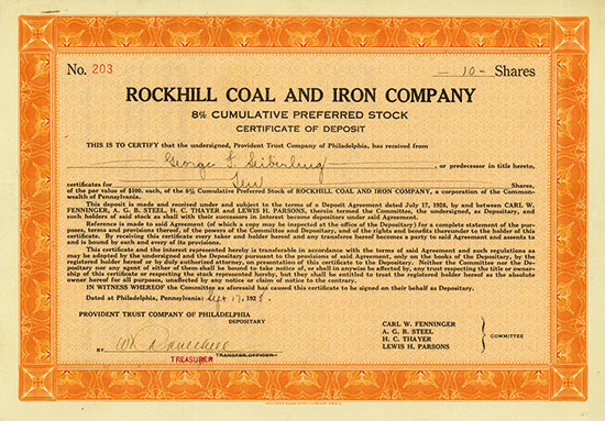 Rockhill Coal and Iron Company