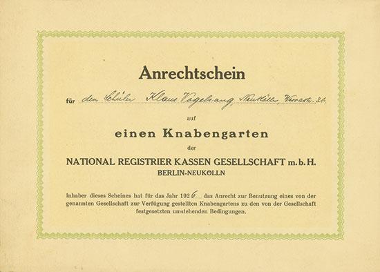 National Registrier Kassen Gesellschaft m.b.H.