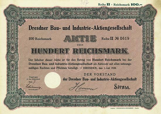 Dresdner Bau- und Industrie-AG [7 Stück]