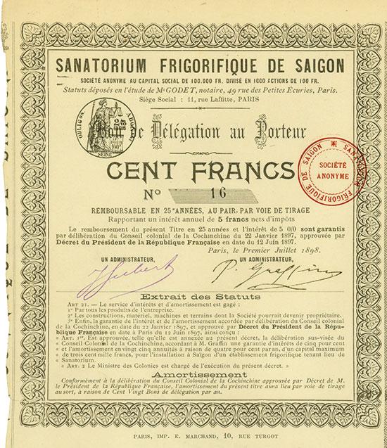 Sanatorium Frigorifique de Saigon