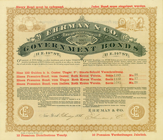 Ehrmann & Co., Dealers in European Government Bonds