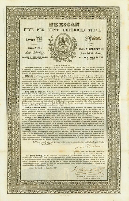 Mexican five per cent. Deferred Stock