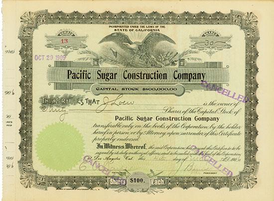 Pacific Sugar Construction Company