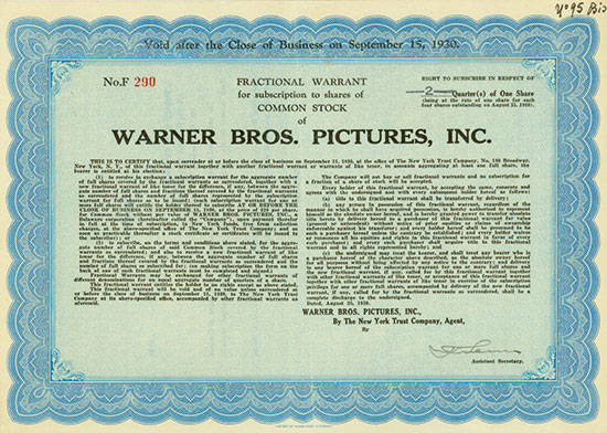 Warner Bros. Pictures, Inc.