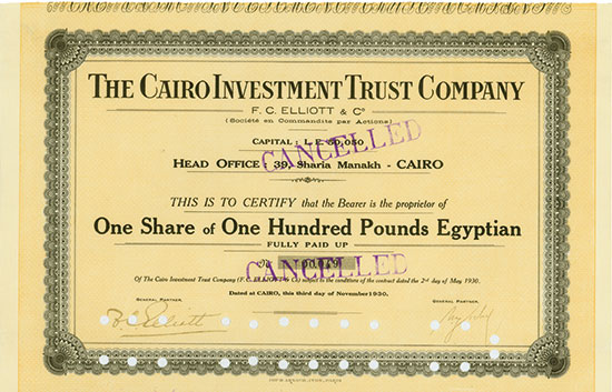 Cairo Investment Trust Company F. C. Elliott & Co.