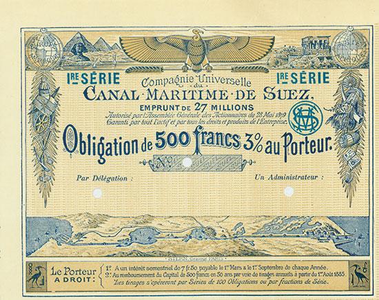 Compagnie Universelle du Canal Maritime de Suez / Allgemeine Gesellschaft des Seeschiffahrts-Canals von Suez