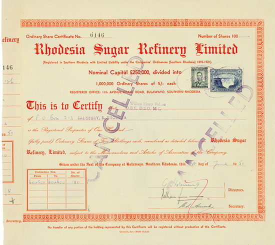 Rhodesia Sugar Refinery Limited