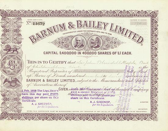 Barnum & Bailey Limited