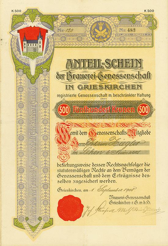 Brauerei-Genossenschaft in Grieskirchen rGmbH