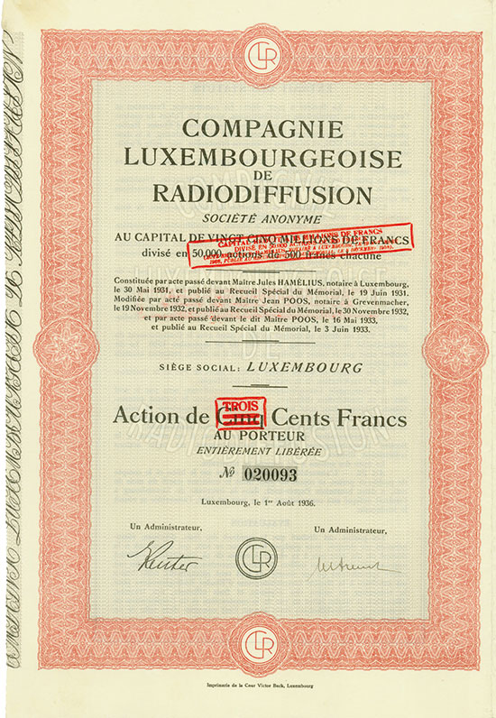 Compagnie Luxembourgeoise de Radiodiffusion Société Anonyme