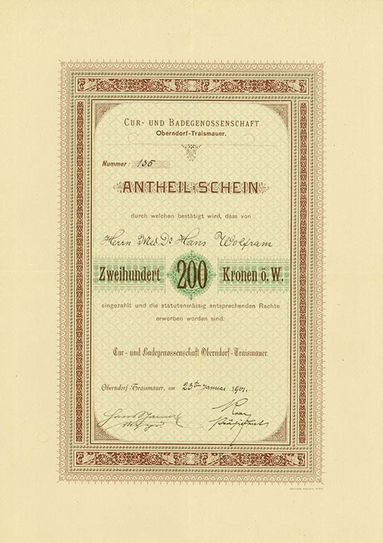 Cur- und Badegenossenschaft Oberndorf-Traismauer