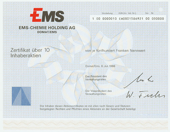 EMS-Chemie Holding AG
