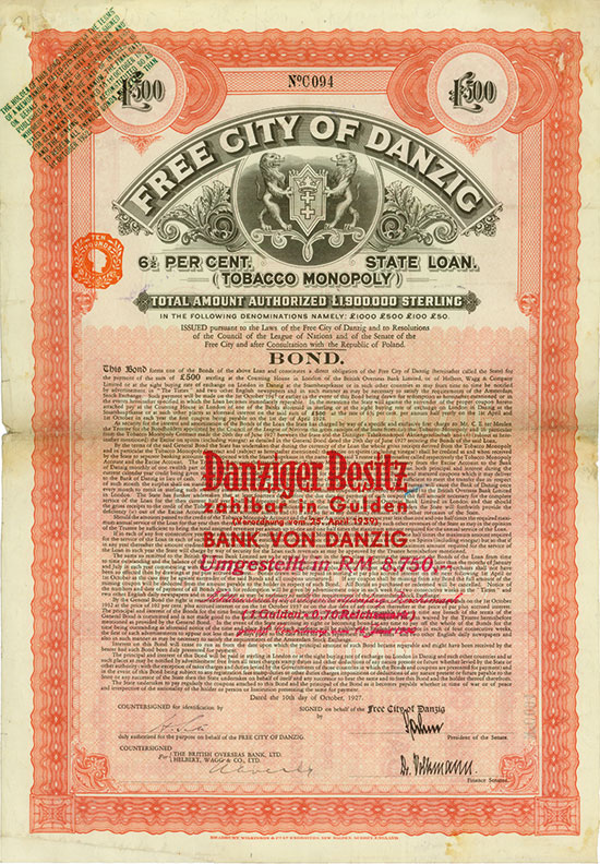 Free City of Danzig (Tobacco Monopoly)