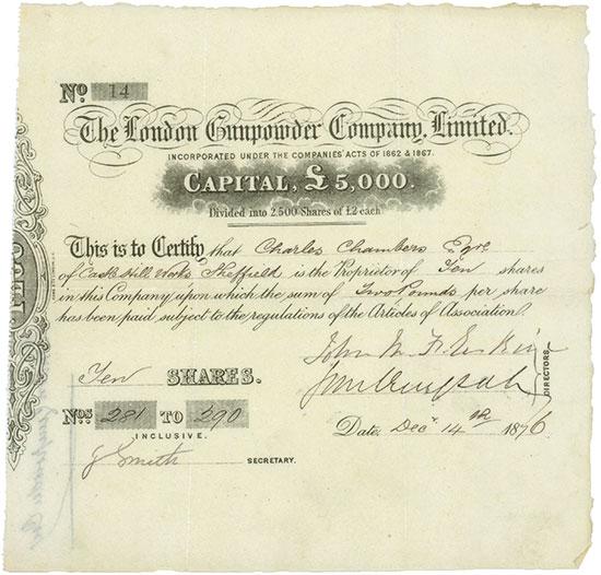 London Gunpowder Company, Limited