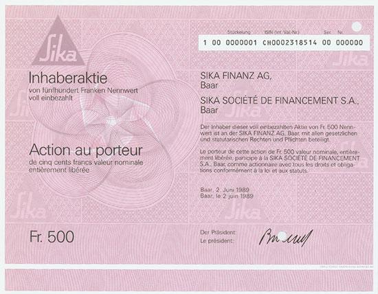 Sika Finanz AG / Sika Société de Financement S. A.