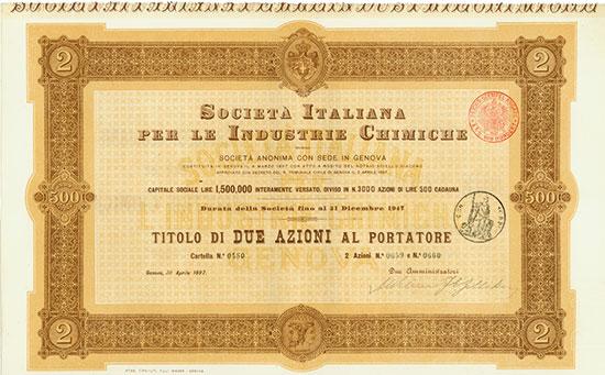 Società Italiana per la Industrie Chimiche [MULTIAUKTION 5]