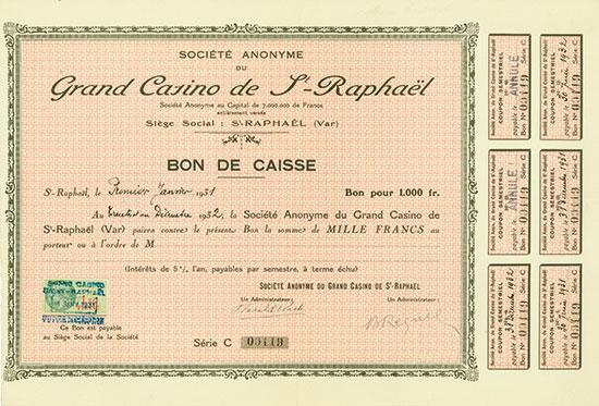 Société Anonyme du Grand Casino de St.-Raphaël