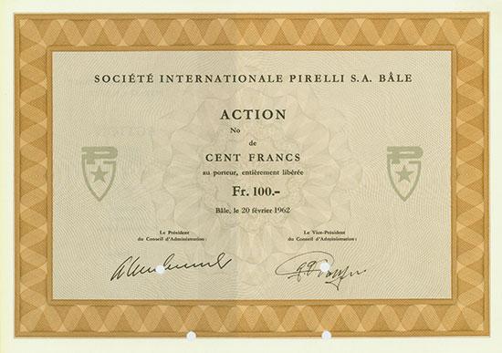 Société Internationale Pirelli S. A.