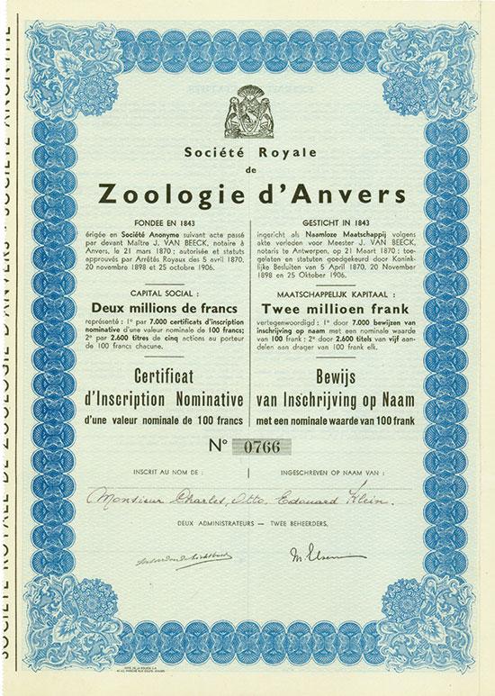 Société Royale de Zoologie d'Anvers