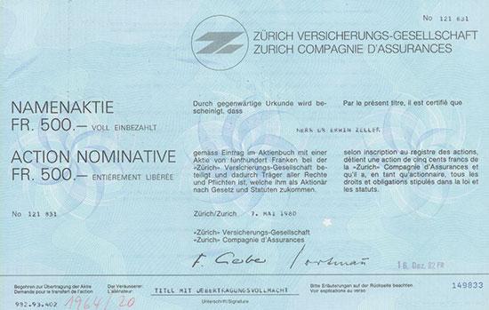 Zürich Versicherungs-Gesellschaft / Zurich Compagnie d'Assurances