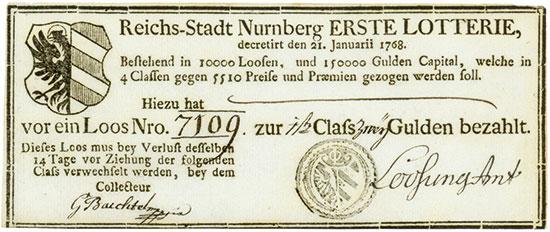 Reichs-Stadt Nürnberg - Erste Lotterie