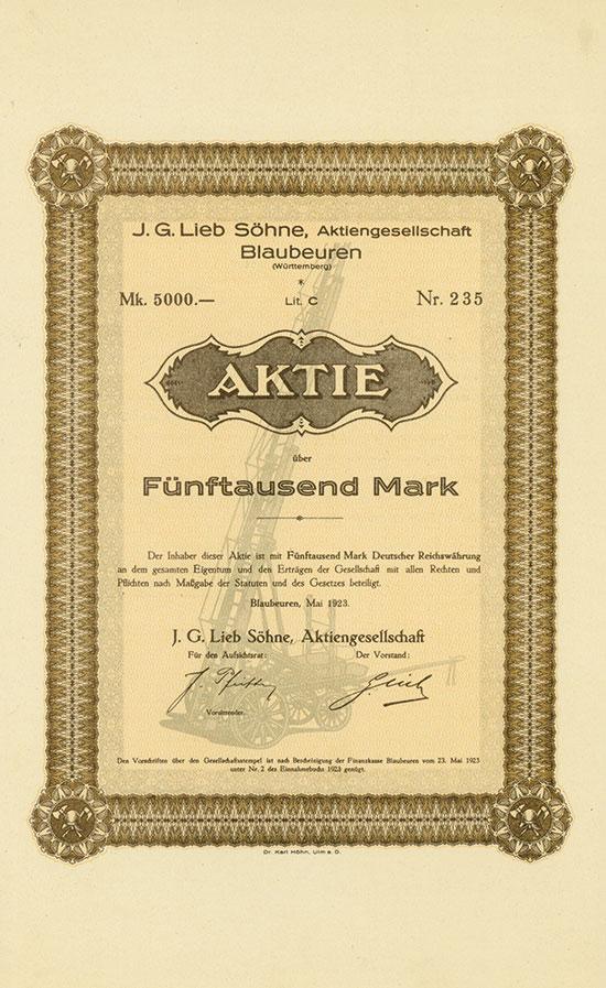 J. G. Lieb Söhne AG