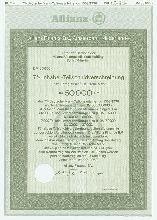 Allianz Finance B. V. [2 Stück]