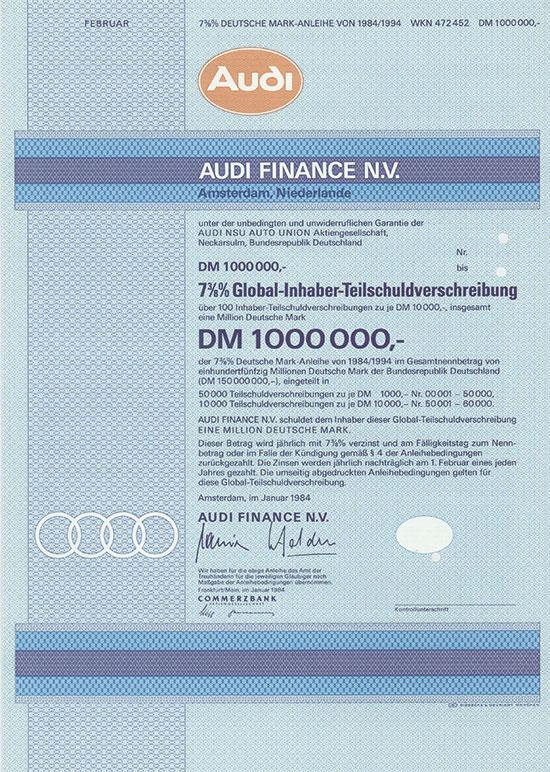 Audi Finance N.V. [3 Stück]