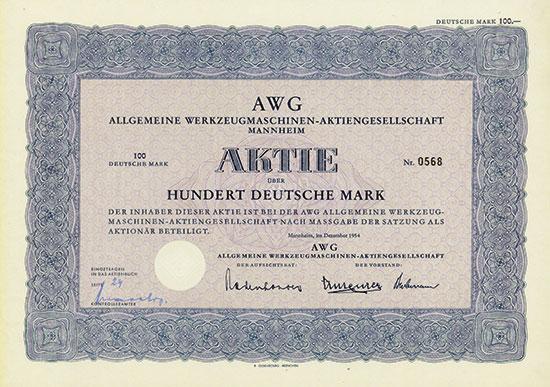 AWG Allgemeine Werkzeugmaschinen-AG