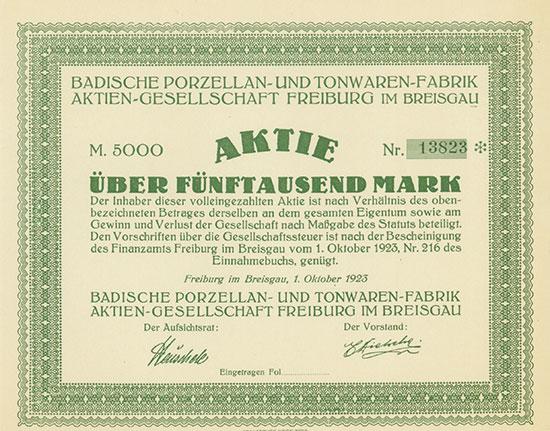 Badische Porzellan- und Tonwaren-Fabrik AG