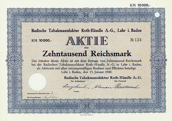 Badische Tabakmanufaktur Roth-Händle AG