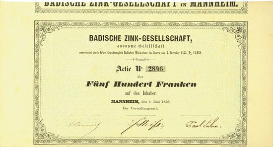 Badische Zink-Gesellschaft AG