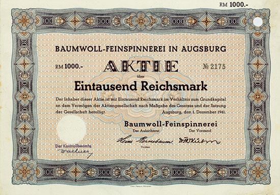 Baumwoll-Feinspinnerei