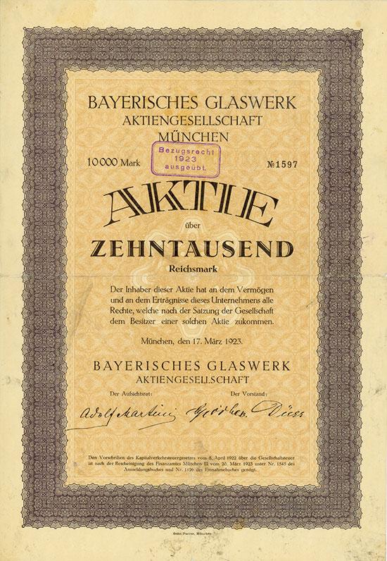 Bayerisches Glaswerk AG