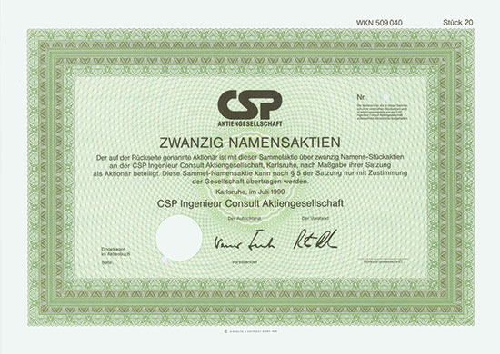 CSP Ingenieur Consult AG [2 Stück]