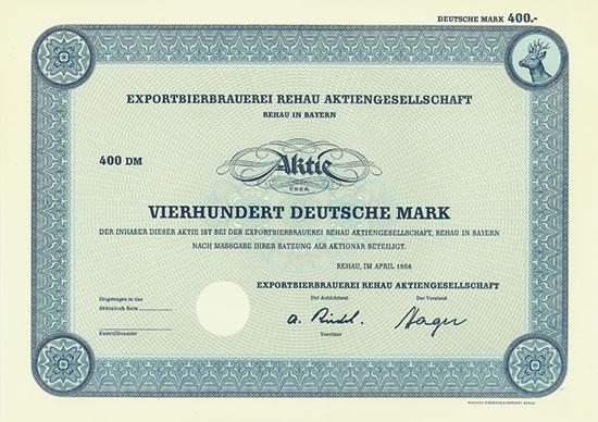 Exportbierbrauerei Rehau AG