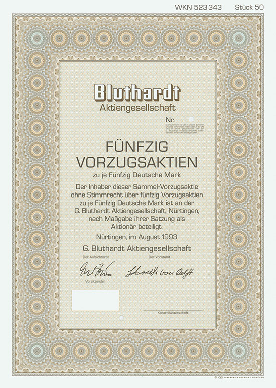 G. Bluthardt AG [3 Stück]