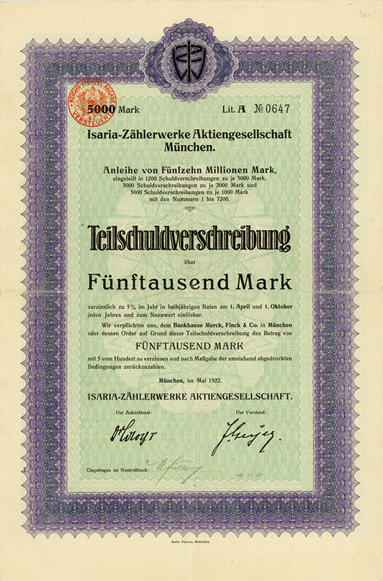 Isaria-Zählerwerke AG