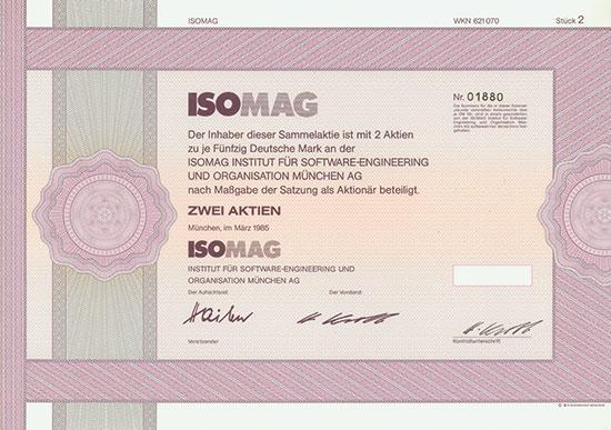 ISOMAG Institut für Software-Engineering und Organisation München AG