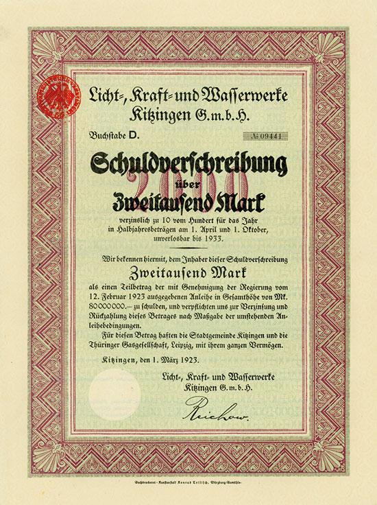 Licht-, Kraft- und Wasserwerke Kitzingen GmbH
