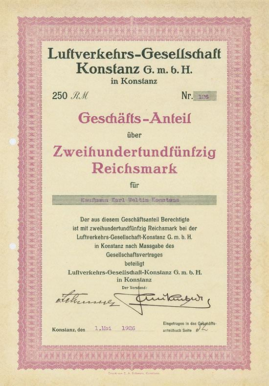 Luftverkehrs-Gesellschaft Konstanz G.m.b.H.