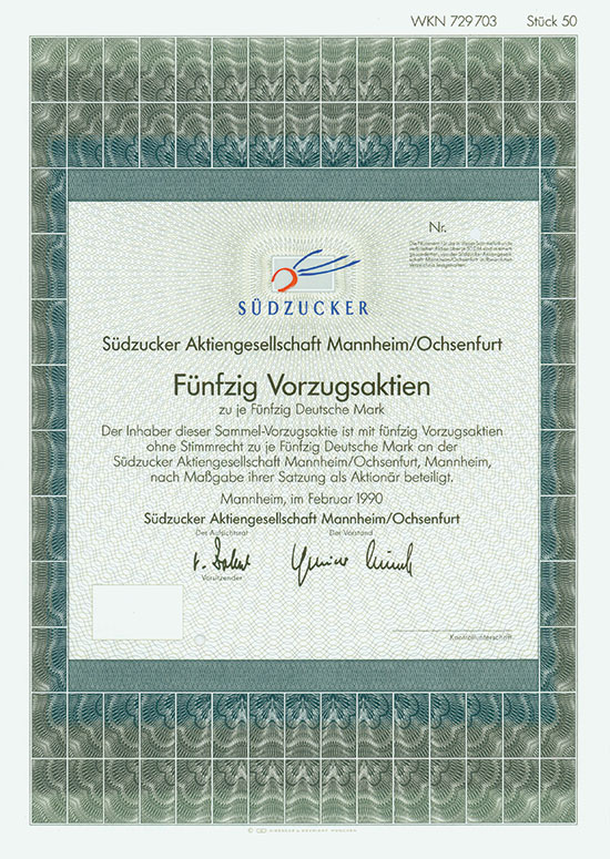 Südzucker AG [3 Stück]