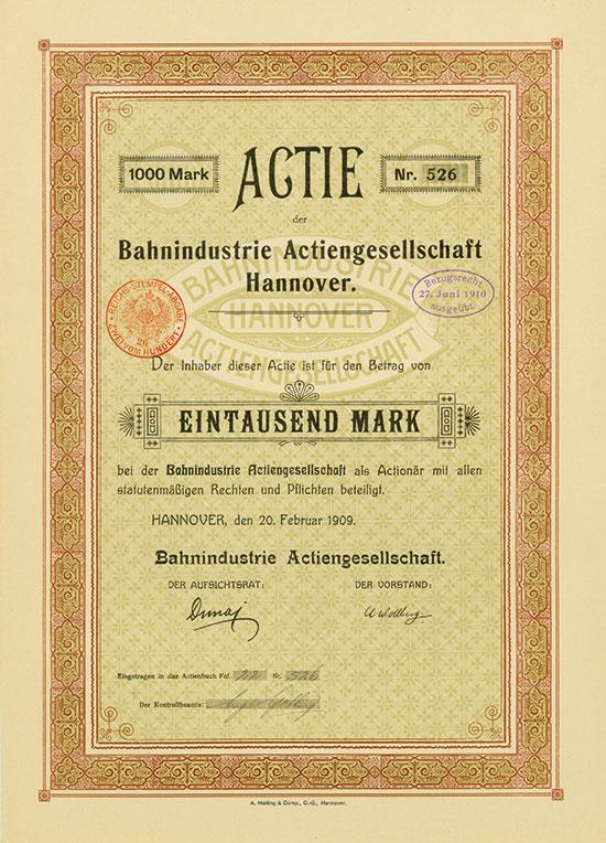 Bahnindustrie AG