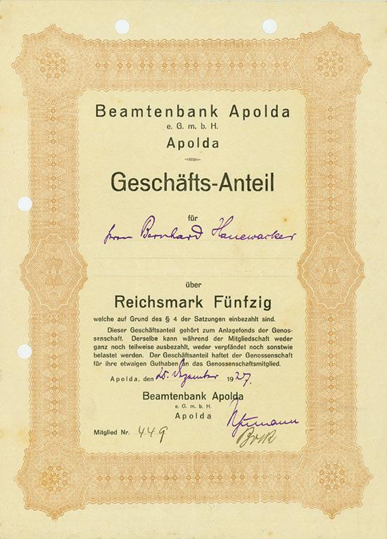 Beamtenbank Apolda e.G.m.b.H.