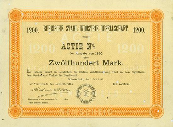 Bergische Stahl-Industrie-Gesellschaft