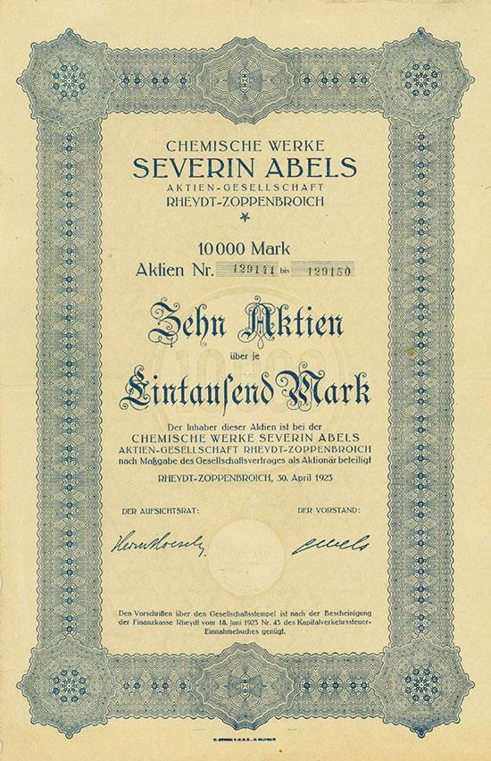 Chemische Werke Severin Abels AG