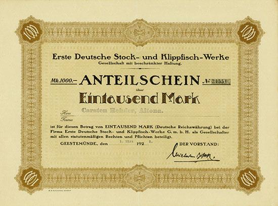 Erste Deutsche Stock- & Klippfisch-Werke GmbH