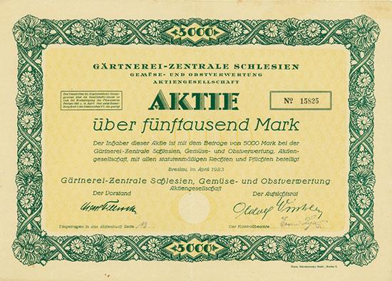 Gärtnerei-Zentrale Schlesien Gemüse- und Obstverwertung AG
